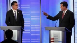 Các ứng viên Rick Santorum và Mitt Romney