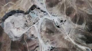 ईरान के परमाणु केंद्र की उपग्रह से ली गई तस्वीर