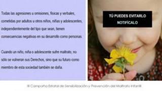 Imagem de campanha do governo espanhol para prevenção de agressão de crianças