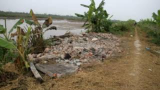 Mảnh đất bị cưỡng chế của Đoàn Văn Vươn