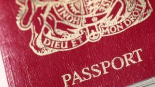 Обложка британского паспорта