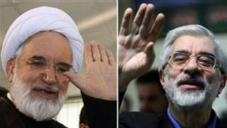 میرحسین موسوی و مهدی کروبی