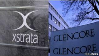 Логотипы Xstrata и Glencore