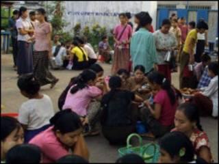Burmese Workers Strike