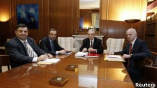 Заседание представителей греческой коалиции