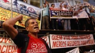Servidores de segurança entram em greve no Rio de Janeiro. | Foto: AP
