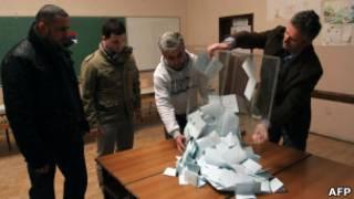 На избирательном участке в Косове