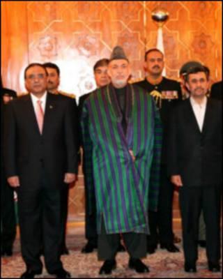 کرزی، زرداري او احمدي نژاد