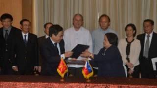 Ảnh chụp cuộc họp ở Manila (nguồn: Bộ Ngoại giao Philippines)