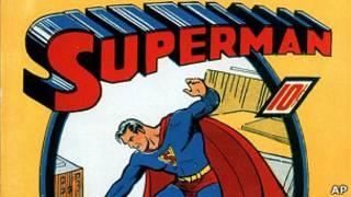 Одна из первых книжек комиксов о Супермене