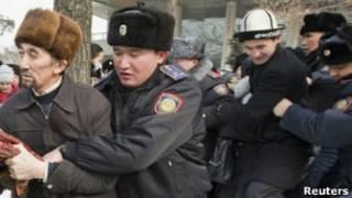 Акция оппозиции в Алма-Ате