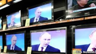 Владимир Путин на экранах