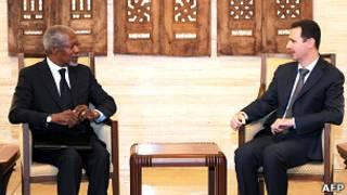 Kofi Annan e Bashar Al-Assad