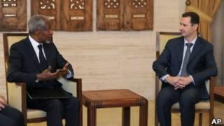 Koffi Annan and Assad