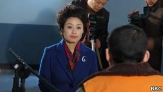 A jornalista chinesa Ding Yu. | Foto: BBC