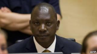 Томас Лубанга на суде