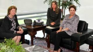 Huguette Labelle visita a presidente Dilma Roussef.   Foto: Agência Brasil