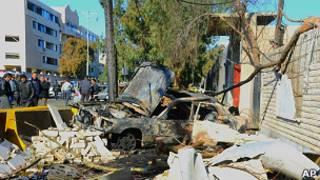 Последствия взрыва в Дамаске