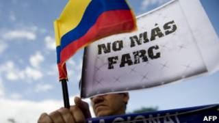 Protesto contra as Farc
