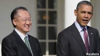 Джим Ён Ким и Барак Обама