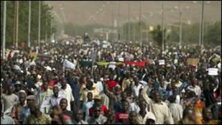 متظاهرون في مالي