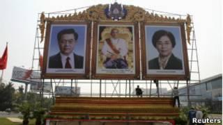 Biển chào đón ông Hồ Cẩm Đào đến Campuchia