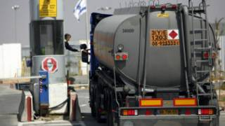 شاحنة وقود في غزة