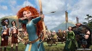 """Princesa Mérida, protagonista de la animación """"Brave"""""""