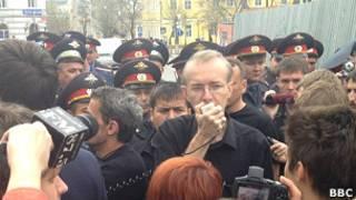 Олег Шеин на митинге в Астрахани