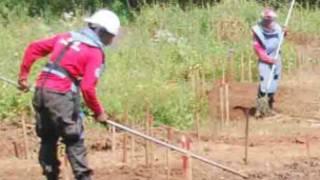 Removing land mines in Sri Lanka
