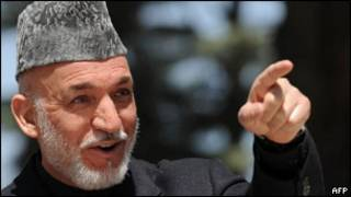 الرئيس الأفغاني، حميد كرزاي