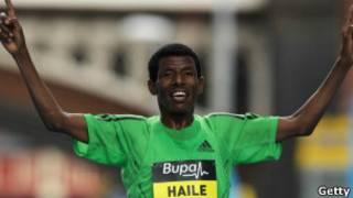 العداء الإثيوبي هايله غيبريسلاسي