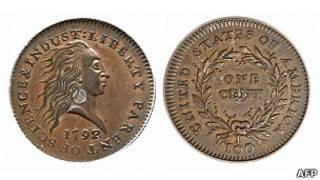 Moneda de un centavo estadounidense