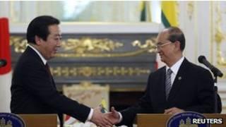 Japan Prime Minister and Burmese President