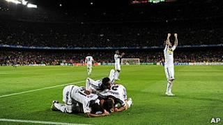"""Игроки """"Челси"""" празднуют победу"""