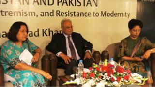 امینہ سید، ریاض محمد خان اور ڈاکٹر ملیحہ لودھی