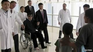 Chen Guangcheng en el hospital