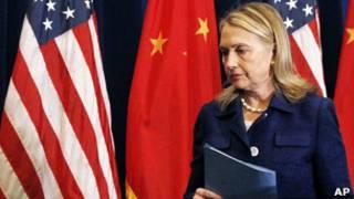 Хиллари Клинтон на пресс-конференции в Пекине