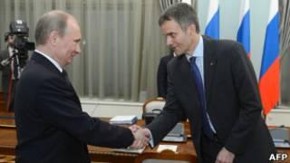 Владимир Путин и глава Statoil Хельге Лунд