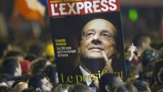 Chân dung Hollande trên trang bìa tạp chí L'Express
