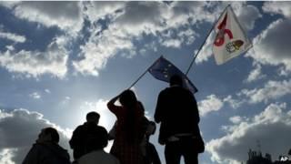 Митинг противников режима экономии во Франции