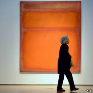 羅斯科的抽像畫橙、紅、黃