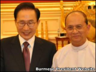 Burmese President and South Korea Counterpart