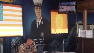"""На американской транизитной базе """"Манас"""" имени Питера Ганси в Киргизии"""
