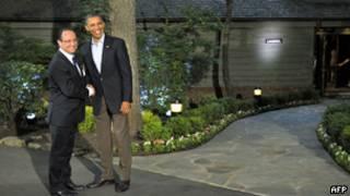 ओबामा और ओलांडे