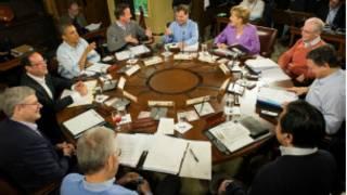 زعماء مجموعة الثماني في اجتماعهم