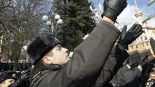Белорусские милиционеры