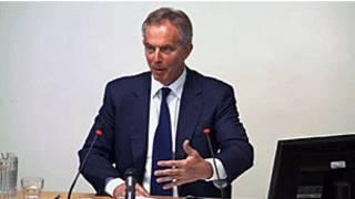 英国前首相布莱尔在列维森听证会上