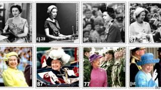 英女王纪念邮票