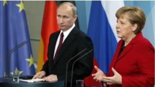 Putin na Merkel